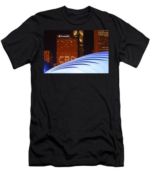 Chicago Skyline Orb Men's T-Shirt (Athletic Fit)