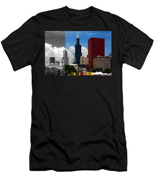 Chicago Skyline Sears Tower Men's T-Shirt (Athletic Fit)