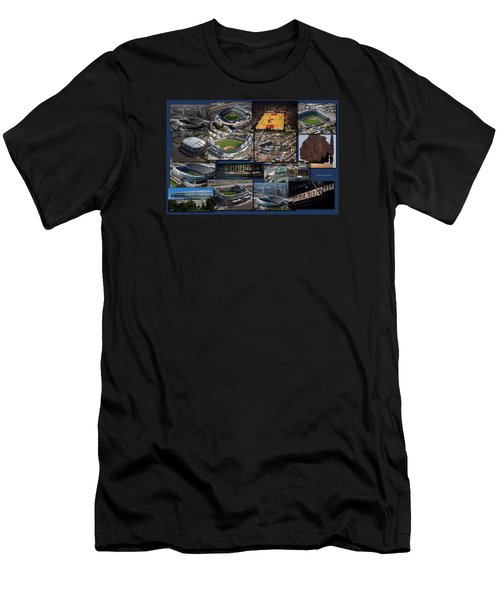 Chicago Sports Collage Men's T-Shirt (Slim Fit) by Thomas Woolworth