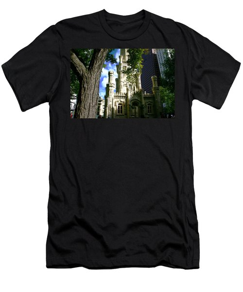 Chicago Water Tower Castle Men's T-Shirt (Athletic Fit)
