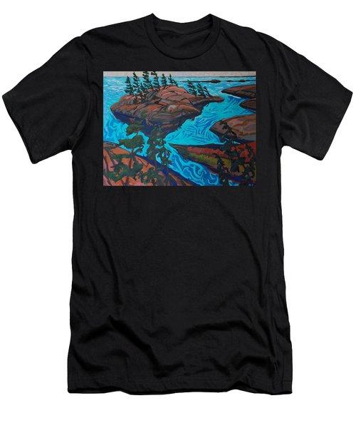 Chickanishing Creek Men's T-Shirt (Slim Fit) by Phil Chadwick