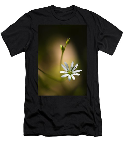 Chickweed Blossom And Bud Men's T-Shirt (Athletic Fit)