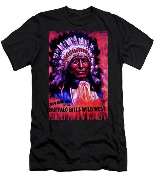 Chief Iron Tail Buffalo Bill's Wild West Men's T-Shirt (Slim Fit) by Peter Gumaer Ogden