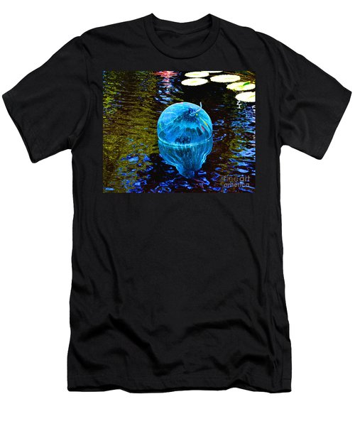Artsy Blue Glass Float Men's T-Shirt (Athletic Fit)
