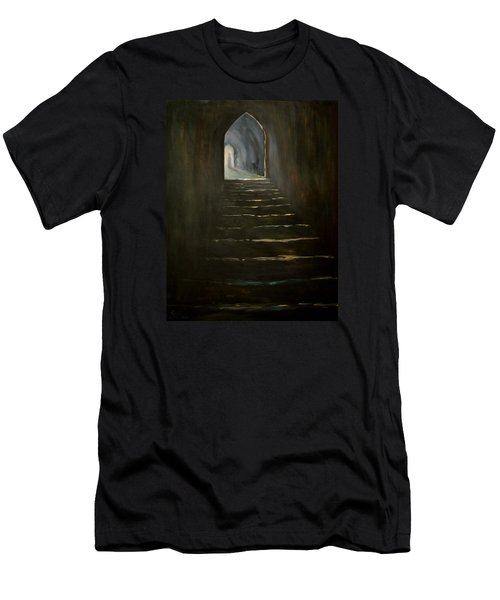 Men's T-Shirt (Slim Fit) featuring the painting Childhood Memories 1 by Jean Walker