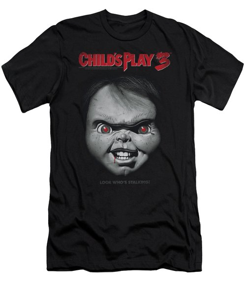 Child's Play 3 - Face Poster Men's T-Shirt (Athletic Fit)