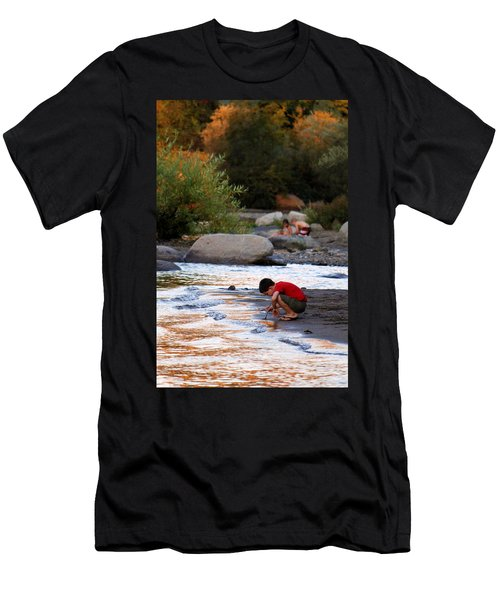 Men's T-Shirt (Slim Fit) featuring the photograph Childs Play by Melanie Lankford Photography