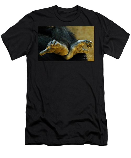 Chimpanzee Feet Men's T-Shirt (Athletic Fit)