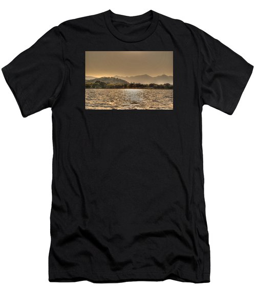 China Lake Sunset Men's T-Shirt (Athletic Fit)
