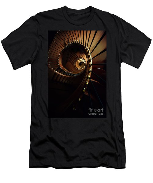 Chocolate Spirals Men's T-Shirt (Slim Fit) by Jaroslaw Blaminsky