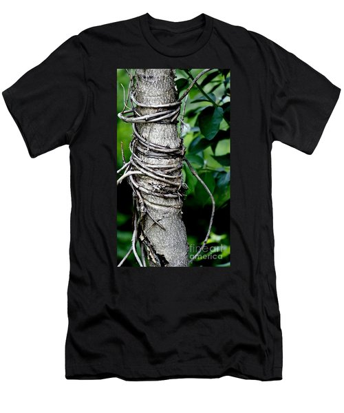 Men's T-Shirt (Slim Fit) featuring the photograph Choke by Lilliana Mendez