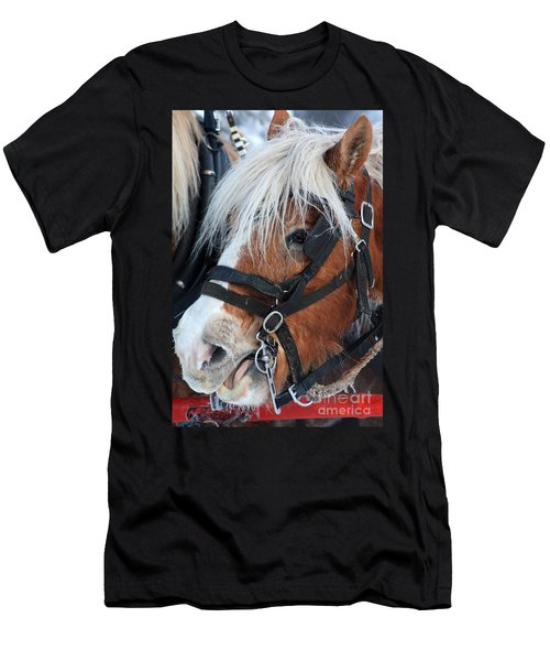 Men's T-Shirt (Slim Fit) featuring the photograph Chomping On The Bit by Alyce Taylor