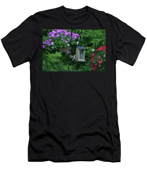 Men's T-Shirt (Slim Fit) featuring the photograph Chow Time For This Bird by Thomas Woolworth