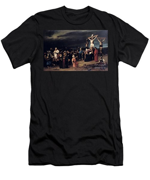 Christ On The Cross Men's T-Shirt (Athletic Fit)