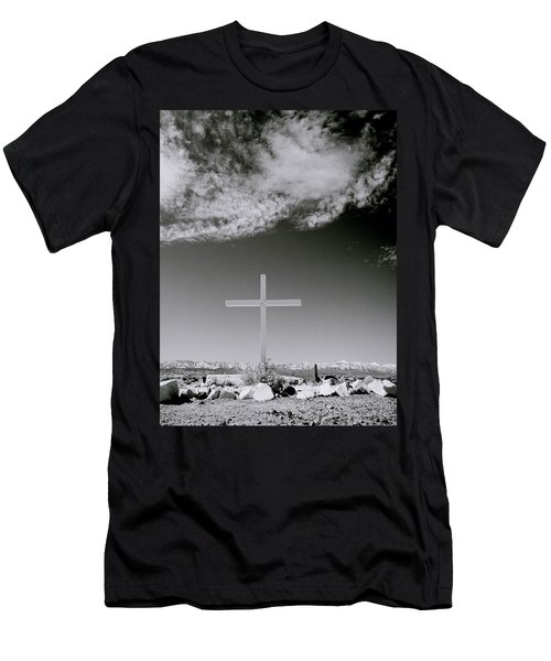 Christian Grave Men's T-Shirt (Slim Fit) by Shaun Higson
