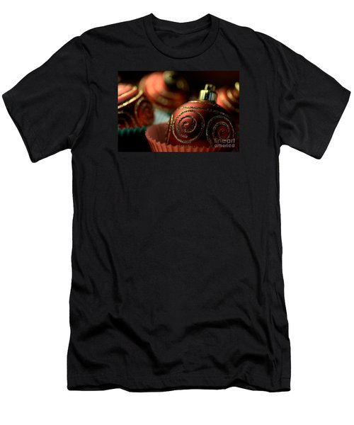 Christmas Bauble Cupcakes Men's T-Shirt (Slim Fit) by Joy Watson
