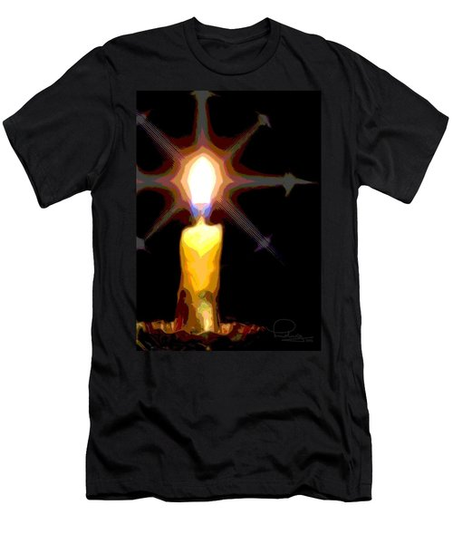 Christmas Candle Men's T-Shirt (Athletic Fit)