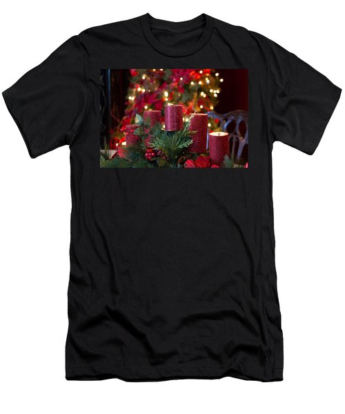 Christmas Candles Men's T-Shirt (Athletic Fit)