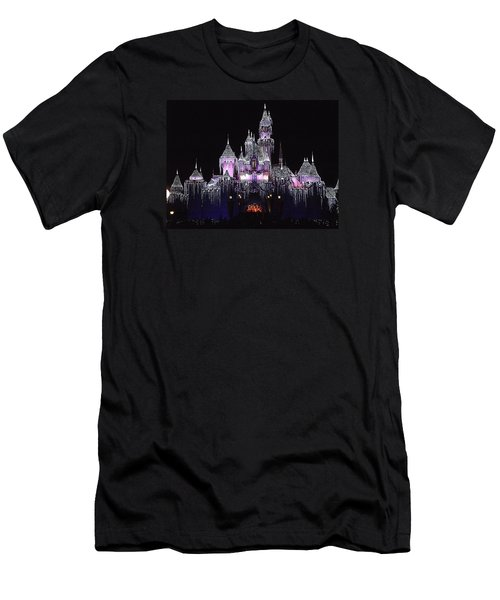 Christmas Castle Night Men's T-Shirt (Athletic Fit)