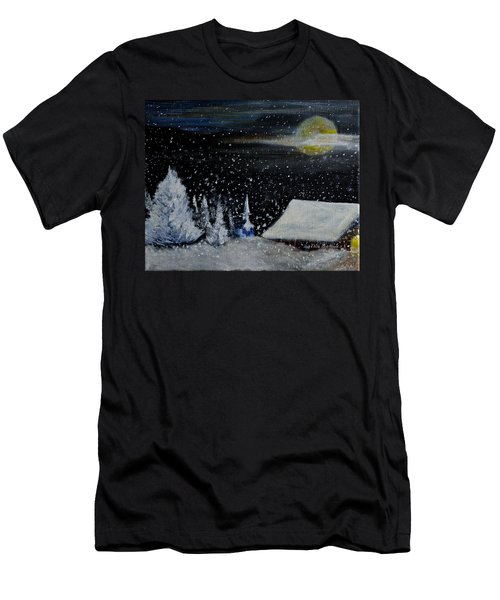 Christmas Eve Men's T-Shirt (Slim Fit) by Dick Bourgault