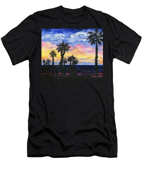 Men's T-Shirt (Slim Fit) featuring the painting Christmas Eve In Redondo Beach by Jamie Frier