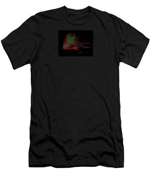 Men's T-Shirt (Slim Fit) featuring the painting Christmas Fly by Jean Pacheco Ravinski