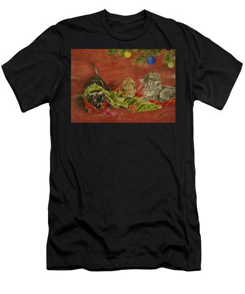 Christmas Friends Men's T-Shirt (Athletic Fit)