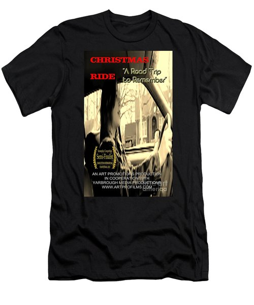 Christmas Ride Film Poster At Wheel Men's T-Shirt (Athletic Fit)