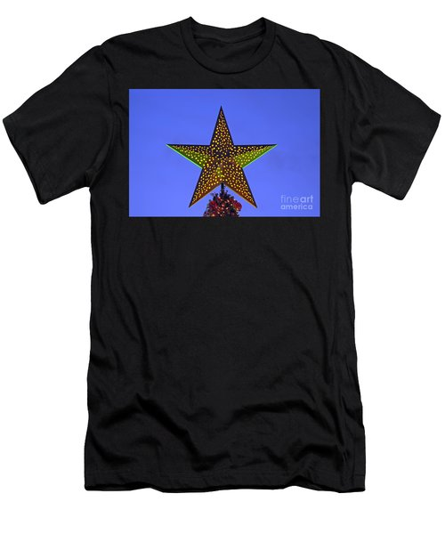Christmas Star During Dusk Time Men's T-Shirt (Athletic Fit)
