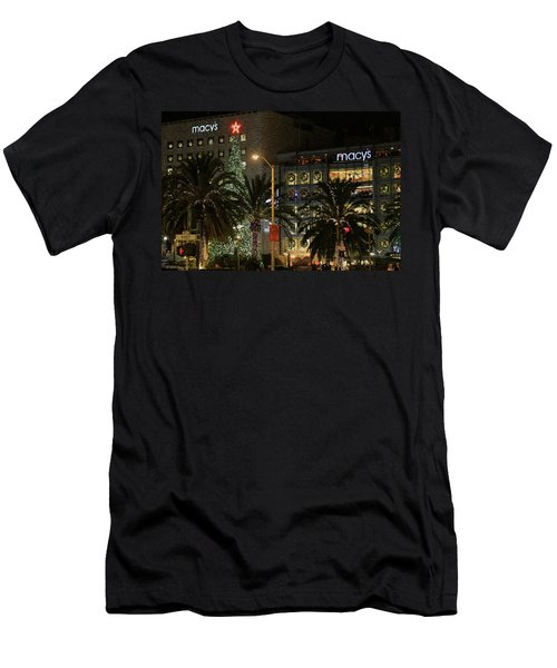 Christmas Tree At Union Square Men's T-Shirt (Athletic Fit)