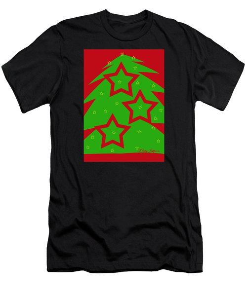 Christmas Tree Stars Men's T-Shirt (Athletic Fit)