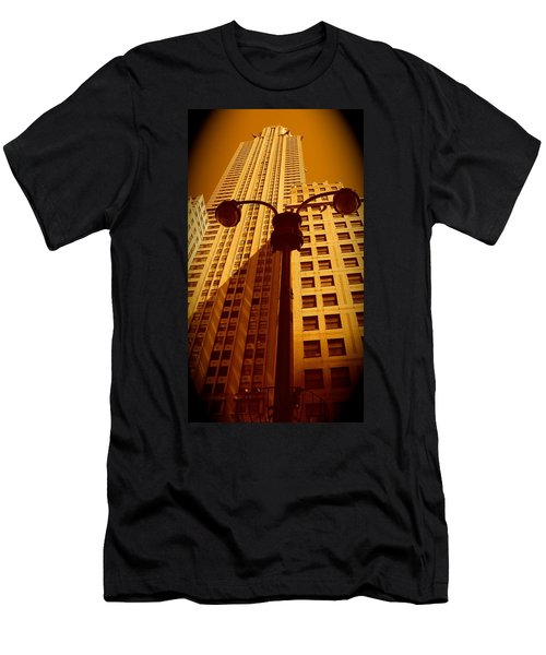 Rockefeller Building In Manhattan Men's T-Shirt (Athletic Fit)