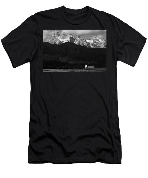 Church Of Saint Peter In Black And White Men's T-Shirt (Athletic Fit)
