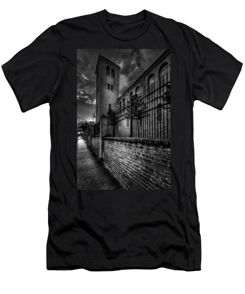 Church Tower In The Clouds Men's T-Shirt (Athletic Fit)