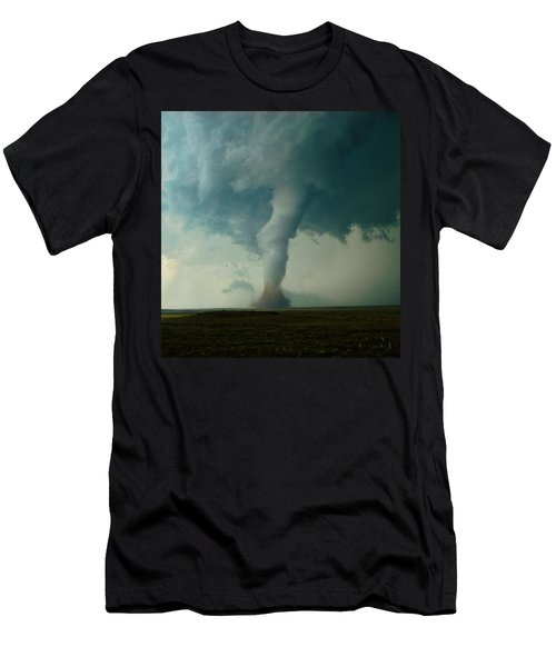 Men's T-Shirt (Slim Fit) featuring the photograph Churning Twister by Ed Sweeney