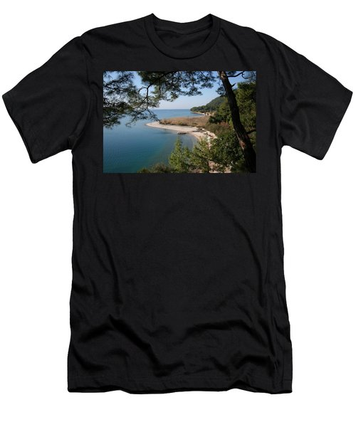 Men's T-Shirt (Slim Fit) featuring the photograph Cinar Beach by Tracey Harrington-Simpson