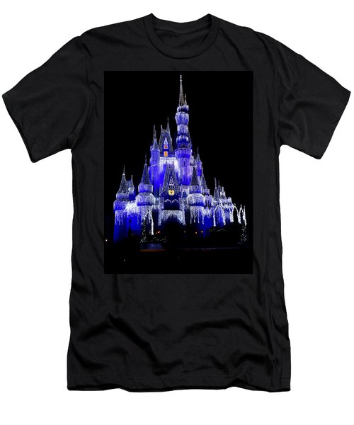 Cinderella's Castle Men's T-Shirt (Slim Fit) by Laurie Perry