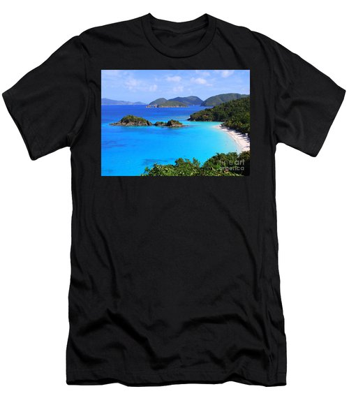 Cinnamon Bay St. John Virgin Islands Men's T-Shirt (Athletic Fit)