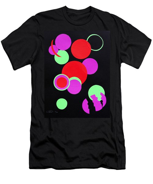 Men's T-Shirt (Athletic Fit) featuring the mixed media Circle Study One by Michele Myers