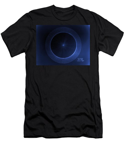 Men's T-Shirt (Slim Fit) featuring the drawing Circles Don't Exist Pi 180 by Jason Padgett