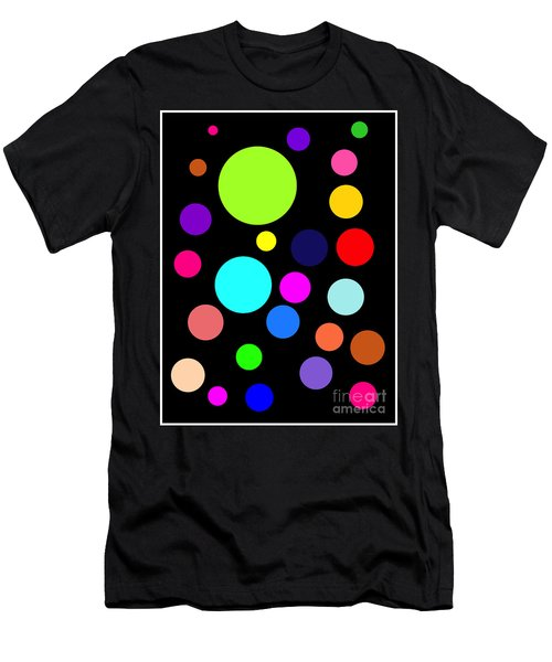 Circles On Black Men's T-Shirt (Athletic Fit)