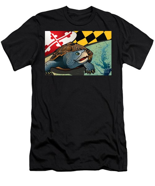 Citizen Terrapin Maryland's Turtle Men's T-Shirt (Slim Fit) by Joe Barsin