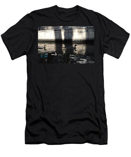 Men's T-Shirt (Slim Fit) featuring the photograph City Ducks by Shawn Marlow