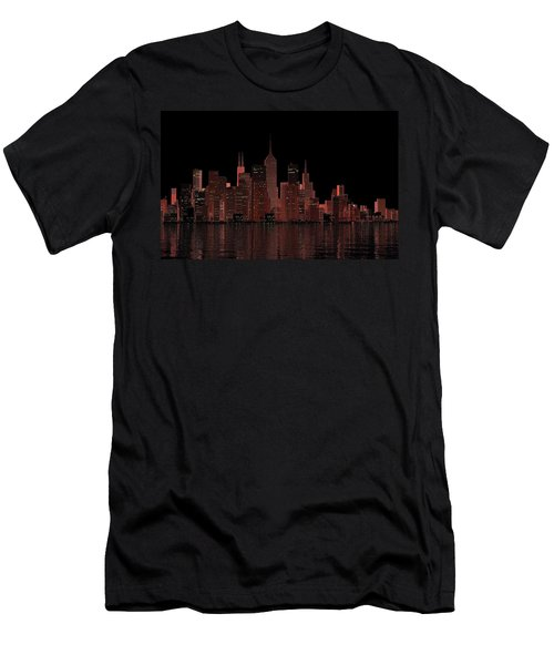 Chicago City Dusk Men's T-Shirt (Athletic Fit)