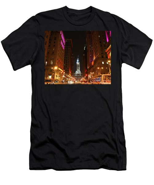 Philadelphia City Lights Men's T-Shirt (Athletic Fit)