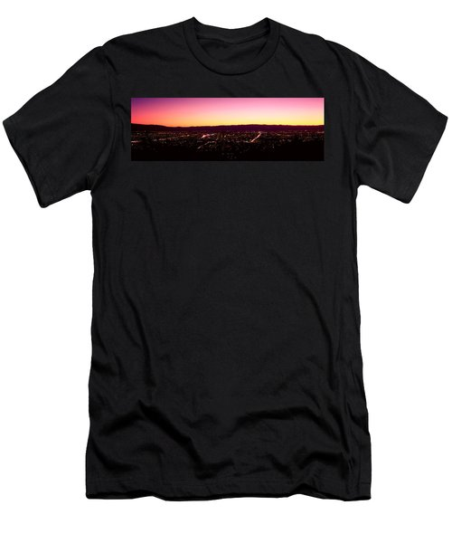 City Lit Up At Dusk, Silicon Valley Men's T-Shirt (Athletic Fit)