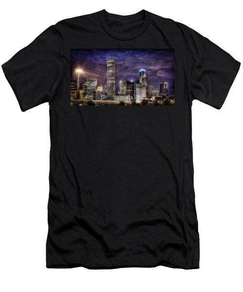 City Of Houston Skyline Men's T-Shirt (Athletic Fit)