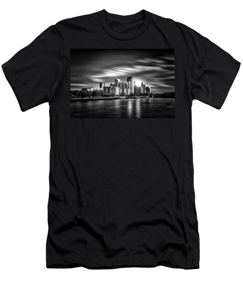 City Of Reflection In Monochrome Hdr Men's T-Shirt (Athletic Fit)