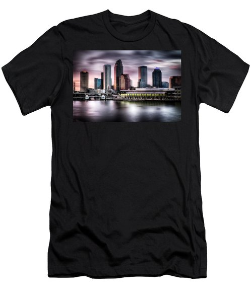 City Of Tampa Skyline At Dusk In Hdr Men's T-Shirt (Athletic Fit)