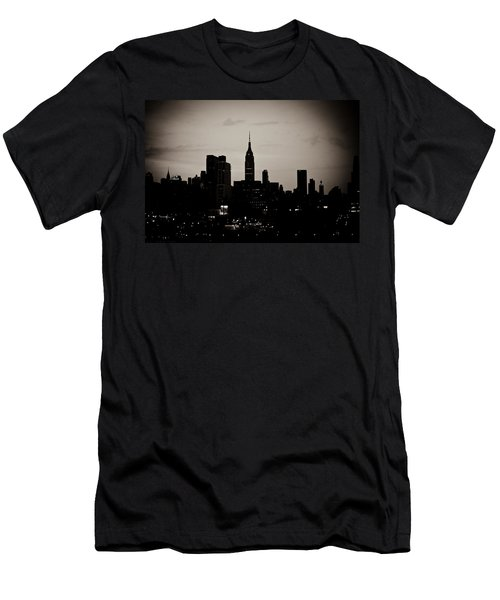 City Silhouette Men's T-Shirt (Slim Fit) by Sara Frank